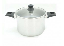 20CMD STAINLESS STEEL STOCK POT WITH LID SET - 7.0L