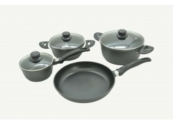 7PCS/SET FORGED ALUMINUM COOKWARE SET