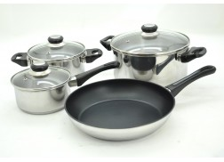 7PCS/SET STAINLESS STEEL COOKWARE SET