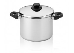 Casserole 8,1 liter Cookware line in 18/8 stainless steel with steam holes in the lid. Suitable for all hobs - including induction